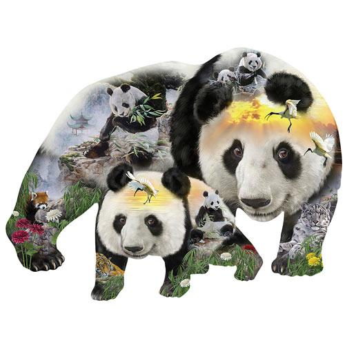 Panda-monium 1000 Piece Shaped Jigsaw Puzzle