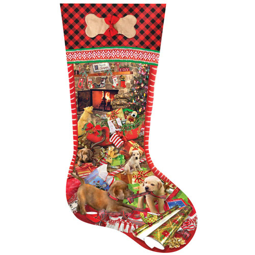 Puppy Stocking 800 Piece Jigsaw Puzzle