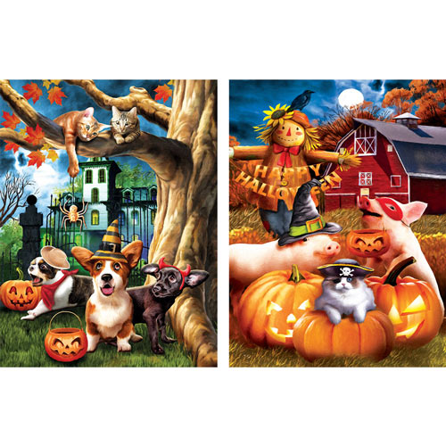 Set of 2: Tom Wood 1000 Piece Jigsaw Puzzles