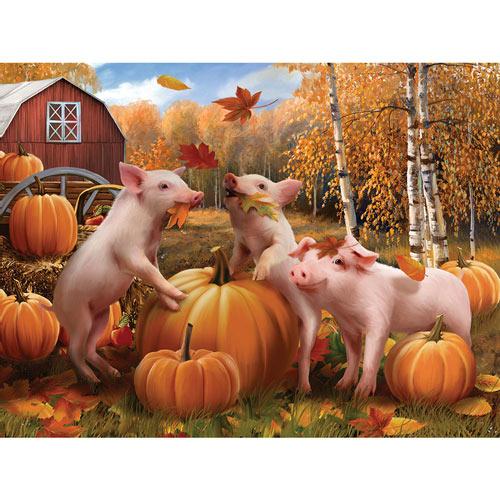 Pigs & Pumpkins 300 Large Piece Jigsaw Puzzle