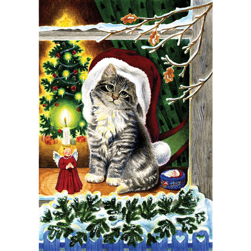 Christmas Kitten 300 Large Piece Jigsaw Puzzle