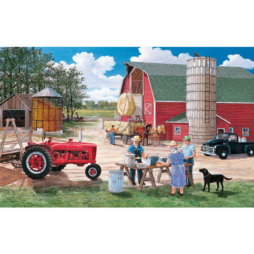 Haymaker's Lunch 550 Piece Jigsaw Puzzle