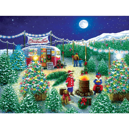 A Lot of Christmas Trees 300 Large Piece Jigsaw Puzzle