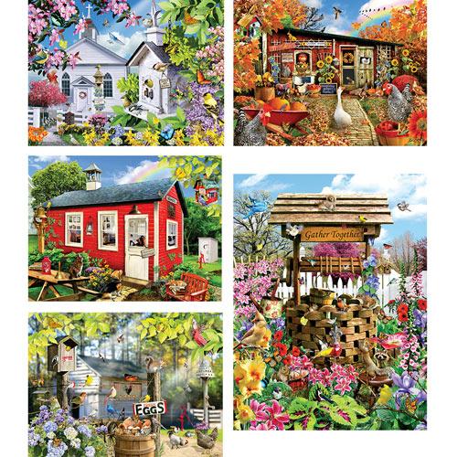 Set of 5: Lori Schory 1000 Piece Jigsaw Puzzles
