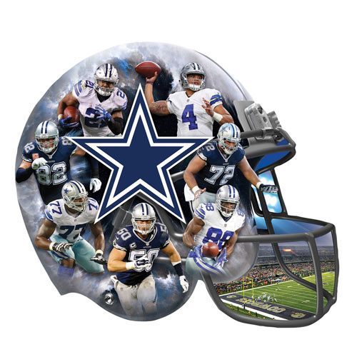 Cowboys 500 Piece Shaped Jigsaw Puzzle