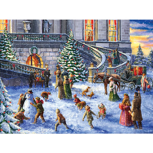 A Traditional English Christmas 300 Large Piece Jigsaw Puzzle