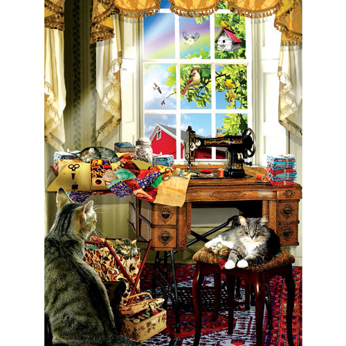 The Sewing Room 300 Large Piece Jigsaw Puzzle