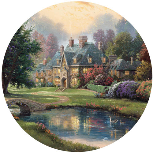 Lakeside Manor 550 Piece Round Jigsaw Puzzle