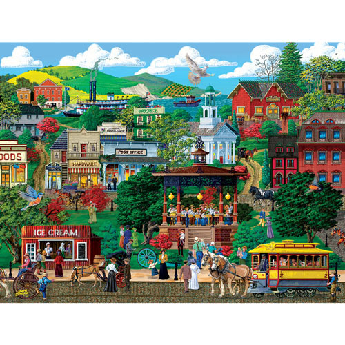 Town Square Festival 300 Large Piece Jigsaw Puzzle