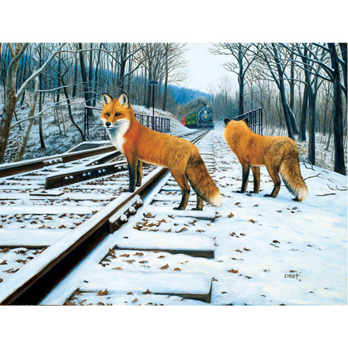 Fox Tracks 300 Large Piece Jigsaw Puzzle