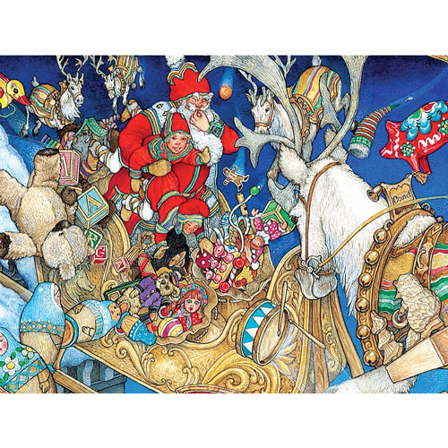 Santa's Toys 300 Large Piece Jigsaw Puzzle