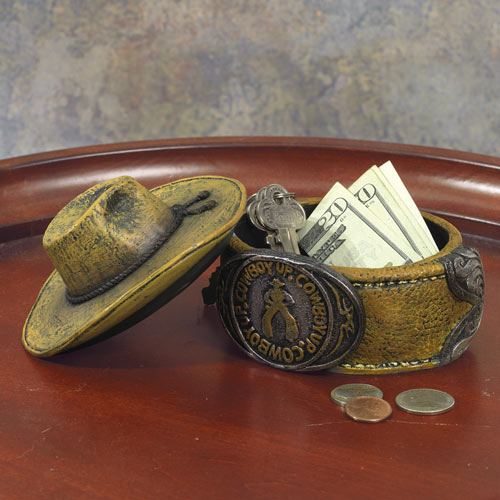Cowboy Hat Trinket Box