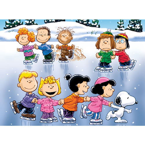 Winter Skate 100 Large Piece Jigsaw Puzzle