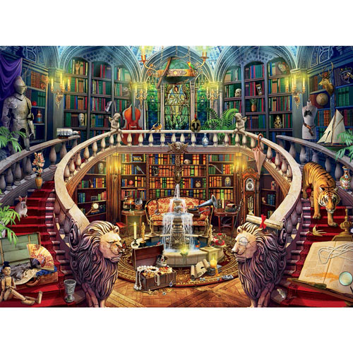 Antique Library 1000 Piece Jigsaw Puzzle