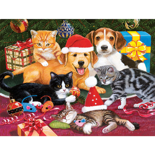 Christmas Meeting 300 Large Piece Jigsaw Puzzle