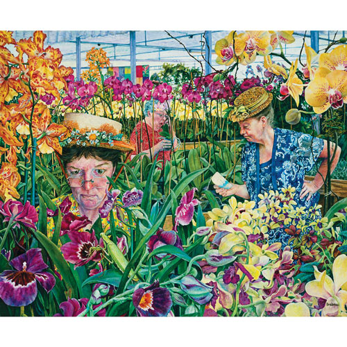 Orchid Society 300 Large Piece Jigsaw Puzzle