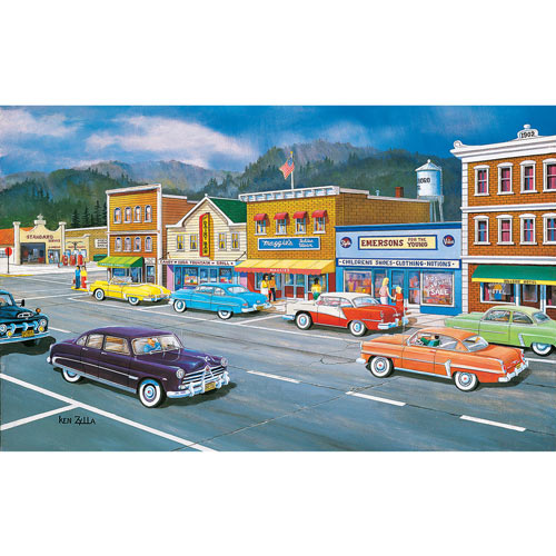 Main St of Memories 300 Large Piece Jigsaw Puzzle