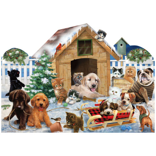 Playing in the Snow 900 Piece Jigsaw Puzzle