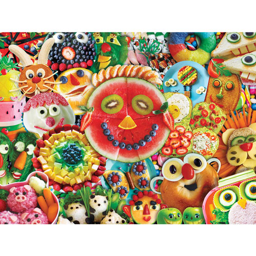 Funny Face Food 300 Large Piece Jigsaw Puzzle