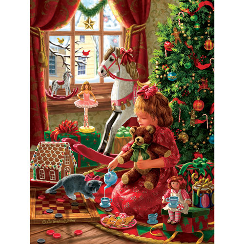 Young Girl's Christmas 300 Large Piece Jigsaw Puzzle