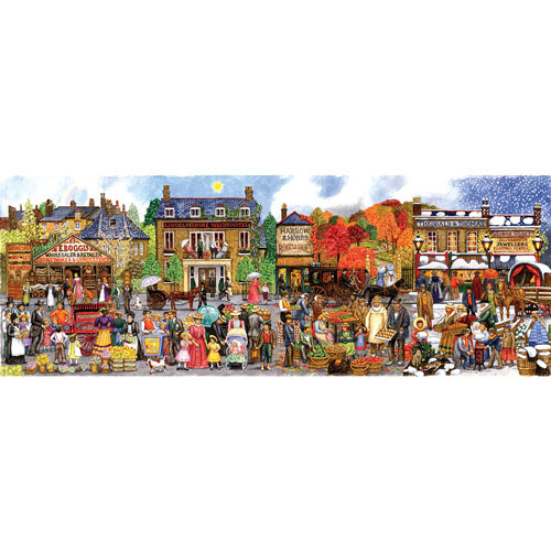 Victorian Main Street 500 Piece Jigsaw Puzzle