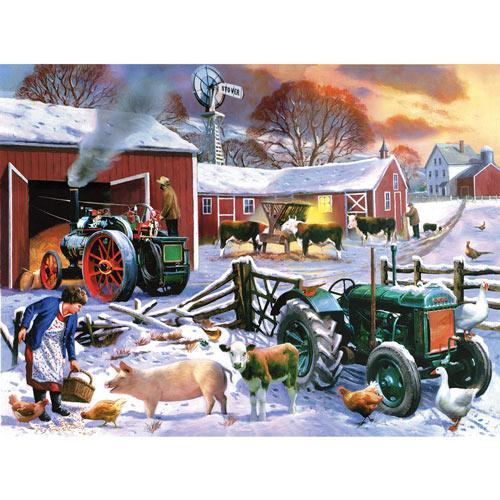 Wintertime Farm 1000 Piece Jigsaw Puzzle