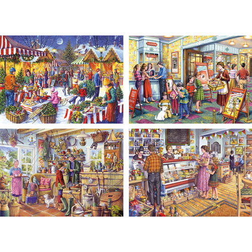 Set of 4: Tony Ryan 1000 Piece Jigsaw Puzzles