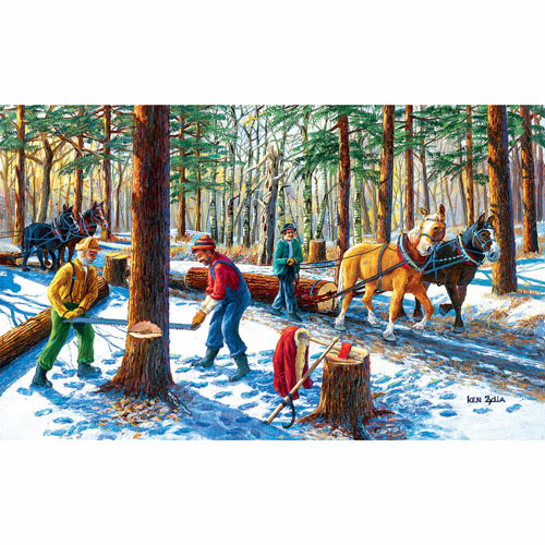 Lumberjacks 300 Large Piece Jigsaw Puzzle