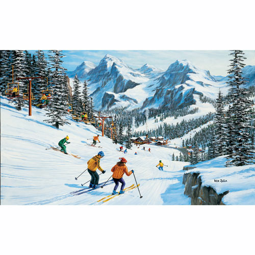Beginner's Slope 300 Large Piece Jigsaw Puzzle
