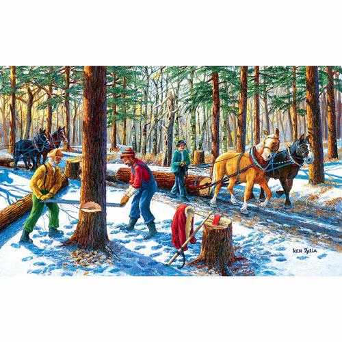 Lumberjacks 550 Piece Jigsaw Puzzle