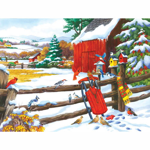 Red Sled and Friends 300 Large Piece Jigsaw Puzzle