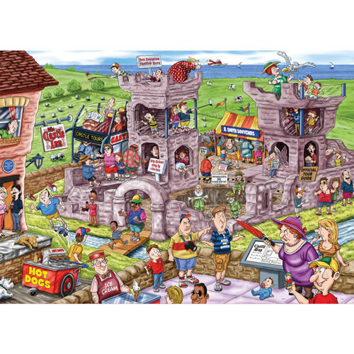 14th Century Castle 1000 Piece Wasgij Jigsaw Puzzle