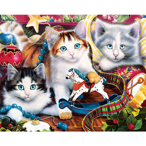 Kitten Trimmings 1000 Piece Jigsaw Puzzle