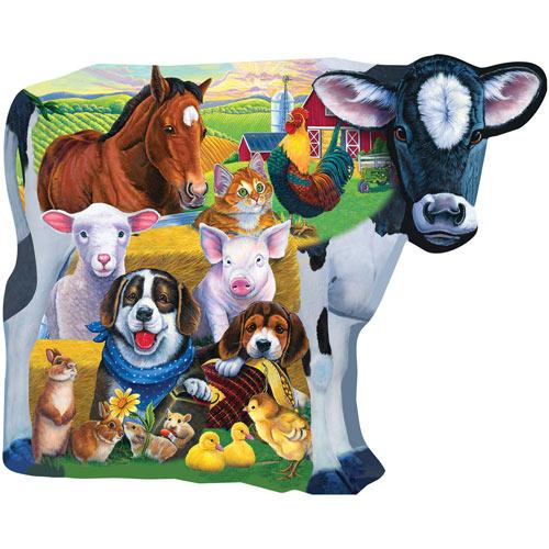 Farm Friends 100 Large Piece Jigsaw Puzzle