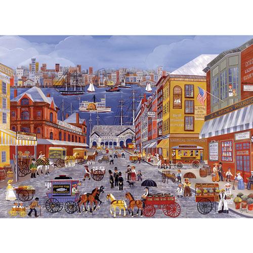 Market Days on Fulton Street 300 Large Piece Jigsaw Puzzle