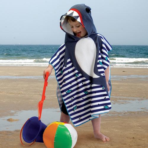 Kid's Hooded Towel - Shark