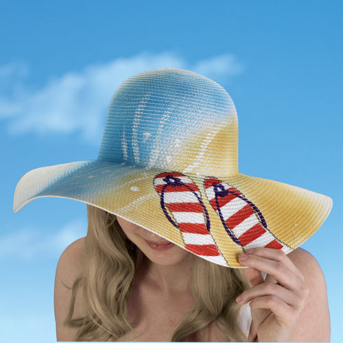 Hand Painted Beach Hat