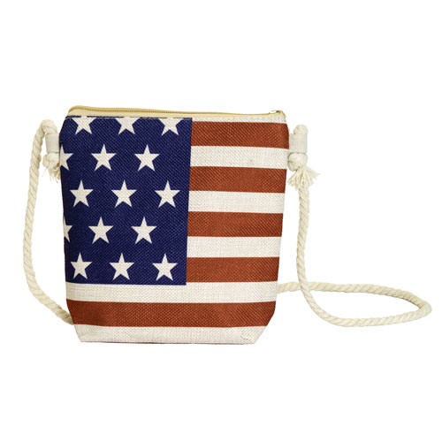 American Flag Crossbody Bag