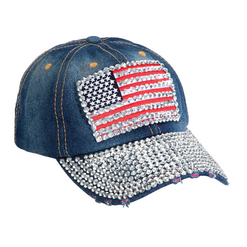 Bling American Flag Hat