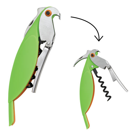 Parrot Corkscrew & Bottle Opener