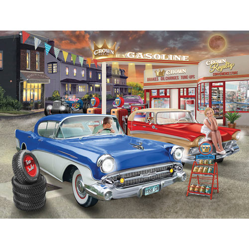 Rest Stop 300 Large Piece Jigsaw Puzzle