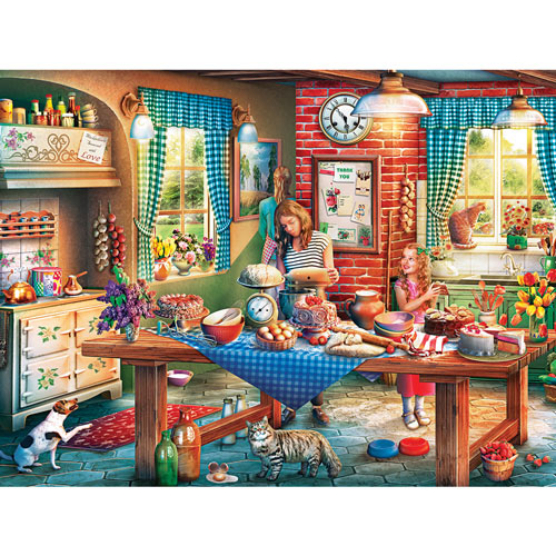 Baking Bread 550 Piece Jigsaw Puzzle