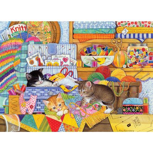 Crafty Kittens 1000 Piece Jigsaw Puzzle