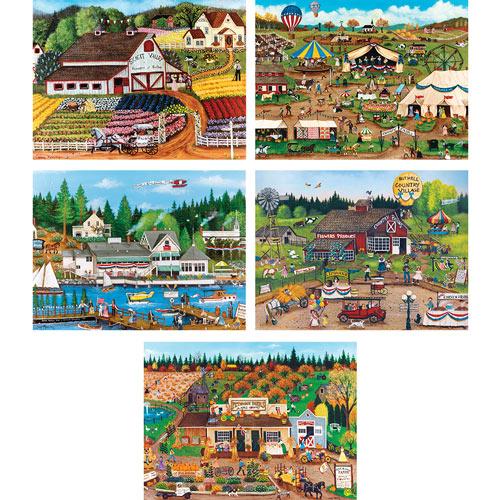 Set of 5: Cindy Mangutz 750 Piece Jigsaw Puzzle