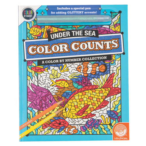 Color Counts Glitter Book- Under The Sea
