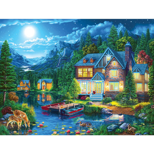 House Near the Lake 300 Large Piece Jigsaw Puzzle