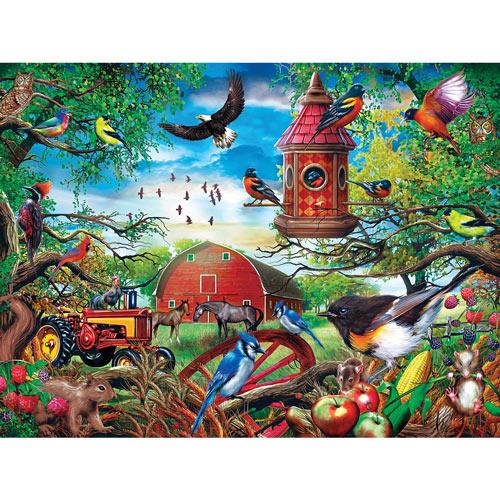 Farmland Frolic 300 Large Piece Jigsaw Puzzle