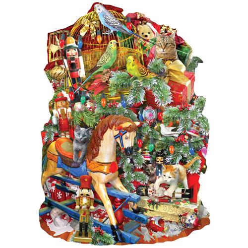 Holiday Havoc 1000 Piece shaped Jigsaw Puzzle
