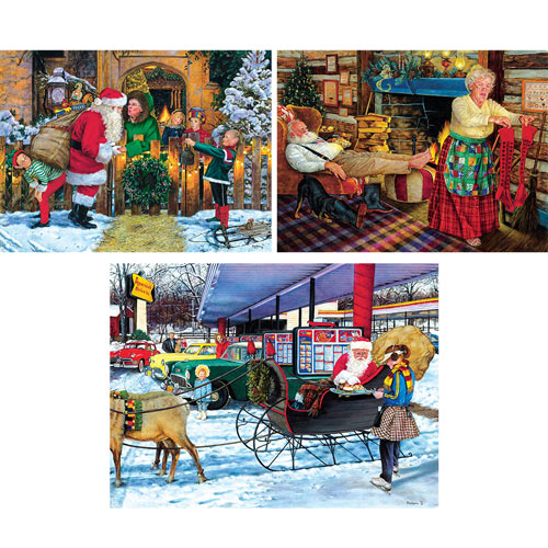 Set of 3: Susan Brabeau 300 Large Piece Jigsaw Puzzles
