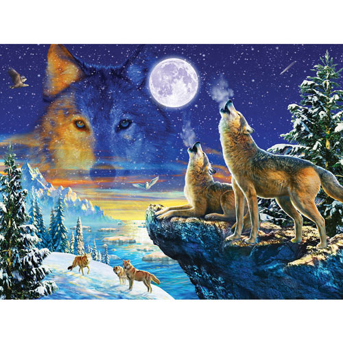 Howling Wolves 1000 Piece Jigsaw Puzzle